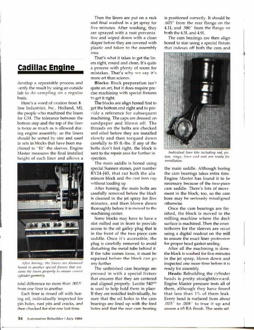Engine Info 49l Cadillac V8 Fieroaddiction Redux 4 9l Diagram S Scans From Automotive Rebuilder June 1994